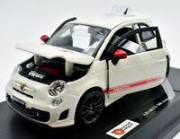 MODELLINO AUTO FIAT 500 ABARTH BURAGO SCALA 1:24 CAR MODEL MINIATURE DIECAST
