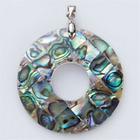 40X40MM Natural Abalone Shell Geometric Necklace Pendant Gift Classic Luxury