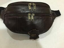 MENS/LADIES LEATHER  FANNY PACK/WAISTBAG BROWN GENUINE COWHIDE LEATHER*Last One*