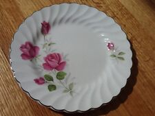 Johnson Brothers JB 602 Snow White Regency pink roses bread plate 6 1/4