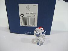 Swarovski 5060448 Cat with Santa's Hat Christmas Crystal Figurine Authentic MIB