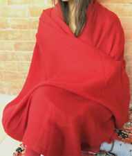 100% Pashmina Shawl in Red Color NEPAL