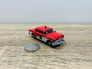 1956 56 Buick Century Police 2015 Red White Matchbox Fire Dept MBX County