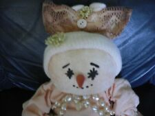 Adorable Cloth Snow Woman Doll