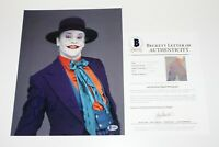 ACTOR JACK NICHOLSON SIGNED 'BATMAN' 11x14 MOVIE PHOTO BECKETT COA THE JOKER