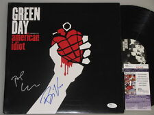 GREEN DAY Billie Joe & Tre Cool  Hand Signed LP  + JSA COA  'BUY GENUINE""