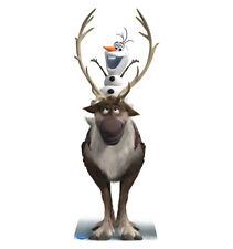 SVEN AND OLAF DISNEY FROZEN LIFE SIZE STAND UP FIGURE CARTOON KIDS DECOR SNOWMAN