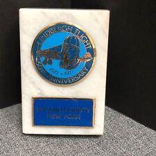 Lindbergh Flight 50th Anniversary Nassau County New York Paperweight