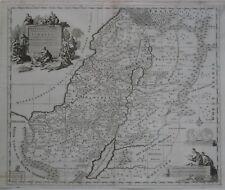 Original 1700 Mortier Map HOLY LAND Israel Twelve Tribes Christ Healing the Sick