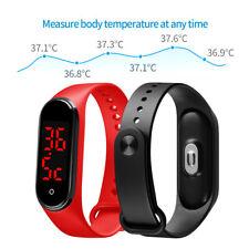 SKMEI Men's LED Bracelet Wristband Sport Watches Waterproof Shock Temperature US