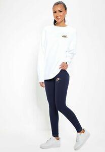 NWT Nike Womens Sportswear Air Leggings Tight Fit Obsidian Gold 930577-451 Sz M