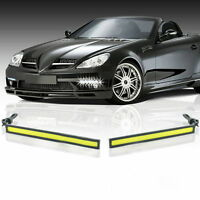 2pcs Car Daytime Running Light COB LED DC 12V DRL Auto Driving Fog Strip Lamp