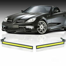 2x Waterproof 12V LED COB Car Auto DRL Driving Daytime Running Lamp Fog Light EH