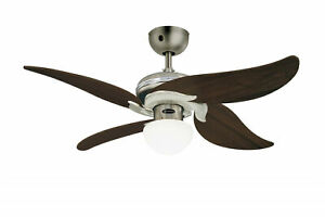 """Westinghouse small indoor ceiling fan light with remote JASMINE 105 cm / 42"""""""