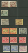 BERMUDA  GEOV 1920 TRECENTENARY  SET SELECTION  USED AND   MOUNTED MINT