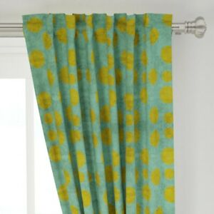 """Polka Dots Geometric Grungy Circles Abstract 50"""" Wide Curtain Panel by Roostery"""