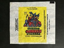 TRADING CARD WAX WRAPPER FOR WEIRD WHEELS STICKERS BY ALLEN'S & REGINA LTD