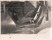 SIDE VIEW OF COCKPIT OF SINGLE SEATER RACING CAR, PHOTOGRAPH.
