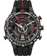 Timex Men's Intelligent Quartz Tide Temp Compass Black and Red Watch T2N720