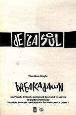 11/9/93PGN22 DE LA SOUL : BREAKADAWN SINGLE ADVERT 7X5""