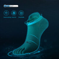 AONIJIE Low-cut FIve-toe Sports Socks Comfortable Breathable absorption Sweat