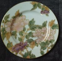 """Fitz & Floyd Cloisonne Peony White 7 1/2"""" Accent Salad Plate"""
