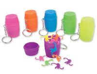 Basic Fun Mini Game Barrel of Monkeys Keychain Toy Key Ring Vintage Children's