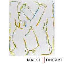 """HORST ANTES """"Figur mit gekreuzten Armen"""" , Farblithographie, handsigniert, 1966!"""