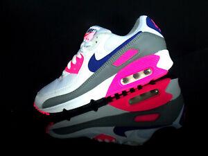 NIKE AIR MAX 90 lll WMNS Classic Damen Sneaker weiß/pink/blau/grau Gr.39