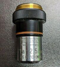 Zeiss Microscope Objective Plan 2,5/0,08 46 01 10-9906 160/- 460110-9906