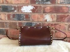Chestnut Brown Leather Clutch Bag with optional Leather Strap