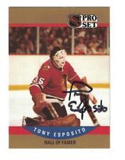 Tony Esposito 1990-91 PRO SET AUTOGRAPH HOCKEY CARD CHICAGO BLACKHAWKS