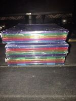 15 Electra Multi-color CD/DVD Cases NEW  Blue Green Yellow Purple Pink