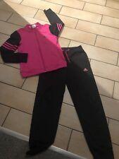 Beautiful Girls Adidas Tracksuit age 9/10 Years Black/pink
