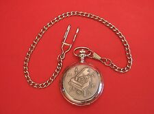 Grand Piano Design Pocket Watch Pewter Front Albert Chain Fathers Day Music Gift