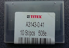 Perforador 10 x mini kleinstbohrer Titex a3143-0, 41 mm Drill