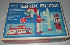 Vintage Brix Blox Little Learners Sears Construction Building Blocks Boxed Used