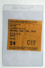 AC/DC DEF LEPPARD VERY RARE TICKET HAMMERSMITH ODEON LONDON 17/12/1979 BON SCOTT