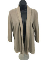 Banana Republic Open Front Cardigan Sweater Sz M Medium Brown 3/4 Sleeve
