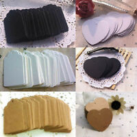 100pcs Kraft Paper Gift Tags Wedding Party Favor Scallop Label Blank Luggage Tag