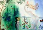 Salvador Dali Seasons. Spring. canvas print giclee 8X12&12X17