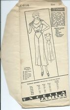 EXCELLA 4118 sewing pattern 30's party FROCK sleeveless DRESS sew FAB size 14/32