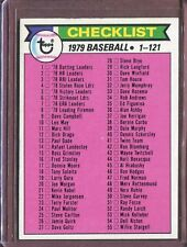 1979 Topps 121 Checklist 1-121 DP EX-MT #D124011