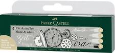 Faber Castell Tuschestift schwarz weiß PITT artist pen Set black white 4er167151