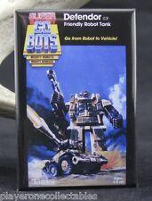 """Gobots Defendor Blister Pack Card  2"""" X 3"""" Fridge / Locker Magnet. Tonka"""