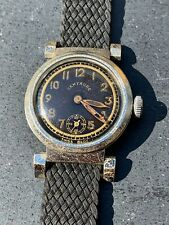 Vintage Watch 40s Centaure swiss-tropical sector dial-mobile lugs-radium