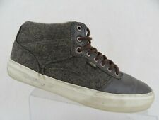 VANS Canvas Leather Brown Sz 10 Men Mid Skateboarding Shoes