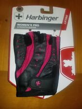 Harbinger Womens Pro Strength Gloves Medium Pink/Black Weight Lifting/Training