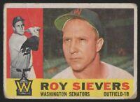 1960 TOPPS #25 ROY SIEVERS — GOOD (2)