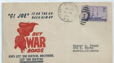"US WWII Patriotic Cover 1944 Stroudsburg BOONE Cachet ""GI JOE IS ON THE GO ... """